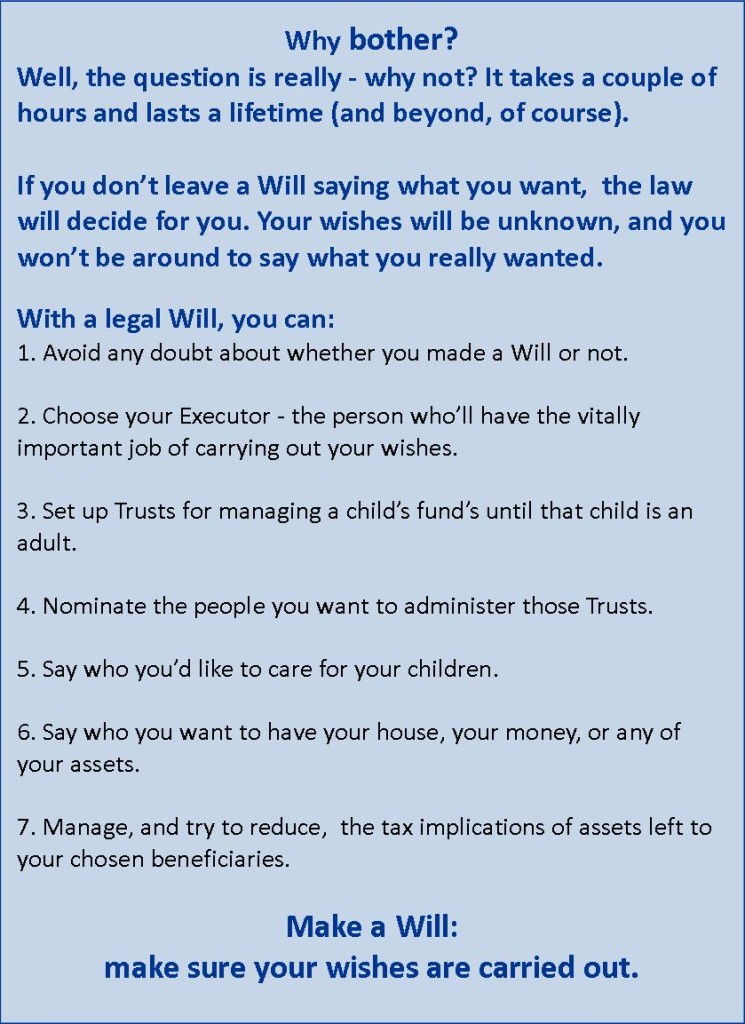 why bother with a Will from Willat home in Perth